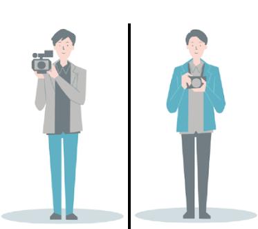 厳選されたカメラマン