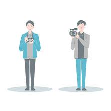 結婚式のスナップ写真撮影+記録ビデオ撮影セット¥116000